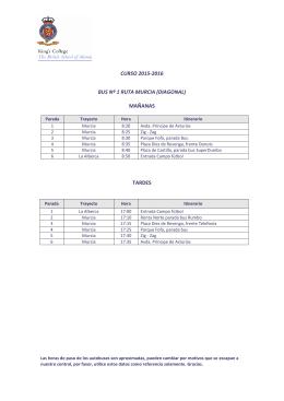Rutas 2015-2016 - King`s College Murcia