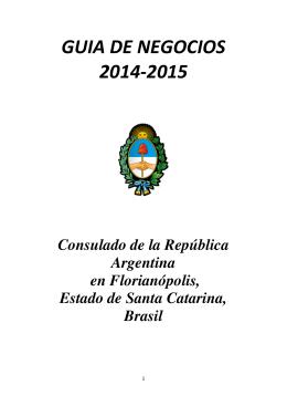 GUIA DE NEGOCIOS - 2014-2015