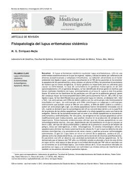 Fisiopatología de lupus eritematoso sistémico