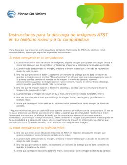 Instrucciones para la descarga de imágenes AT&T en tu teléfono