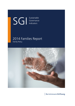 2014 Families Report | SGI Sustainable Governance Indicators