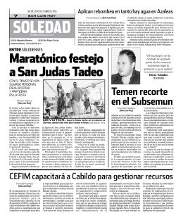 Maratónico festejo a San Judas tadeo
