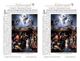 La fiesta de la Transfiguración de Nuestro Señor Jesucristo, La