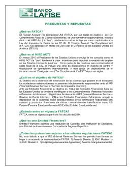 Información Ley FATCA