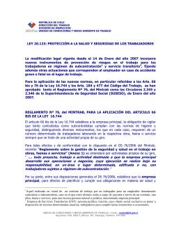 reglamento para la aplicación del articulo 66 bis de la ley 16