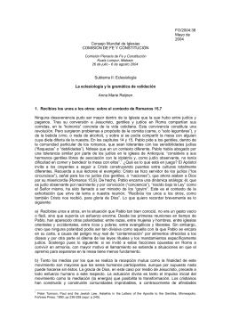 FO/2004:38 Mayo de 2004 Consejo Mundial de Iglesias COMISIÓN