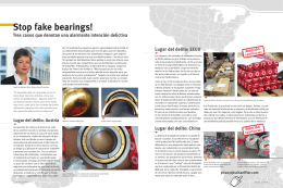 Stop fake bearings!