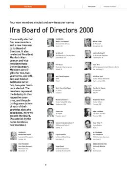 Ifra Board of Directors 2000 - WAN-IFRA