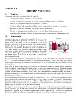 Práctica # 3 DIFUSIÓN Y ÓSMOSIS