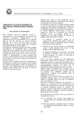 BOLETIN DE LECTURAS SOCIALES Y ECONOMICAS - UCA