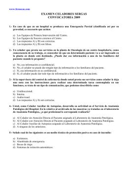 Examen celadores SERGAS 2.009