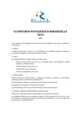 Bases concurso fotográfico Ribadesella 2015