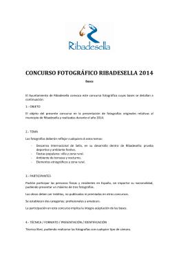 CONCURSO FOTOGRÁFICO RIBADESELLA 2014