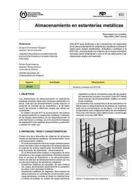 Almacenamiento en estanterías metálicas