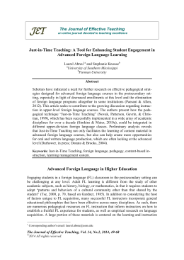 Just-in-Time Teaching: A Tool for Enhancing Student Engagement