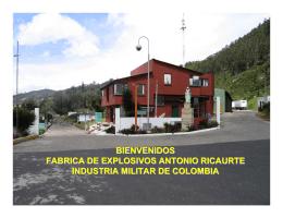 Productos Fábrica de Explosivos Antonio Ricaurte