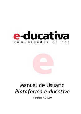 Manual de Usuario Plataforma e-ducativa