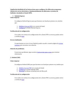 Ampliación detallada de las Instrucciones para configurar los