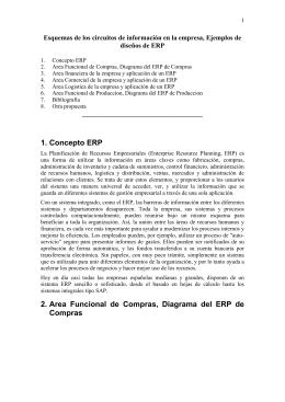 1. Concepto ERP 2. Area Funcional de Compras