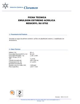 ficha tecnica emulsion estireno acrilica resicryl su 8792