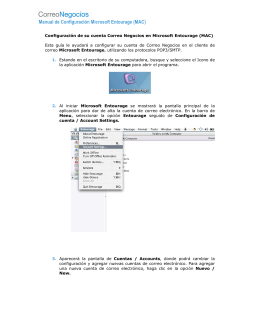 Configuración de su cuenta Correo Negocios en Microsoft Entourage