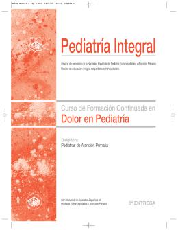 Dolor en Pediatría - SEPEAP - Sociedad Española de Pediatría