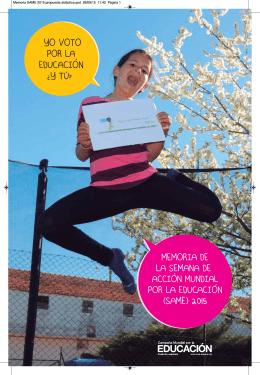 Memoria SAME 2015 - Campaña Mundial por la Educación