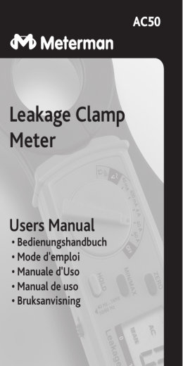 Leakage Clamp Meter Users Manual