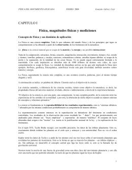 CAPITULO I Física, magnitudes físicas y mediciones