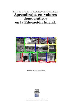 Aprendizajes en valores democráticos en la Educación Inicial.