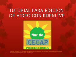 tutorial para edicion de video con kdenlive
