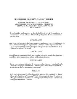 Reglamento General de la UPEL