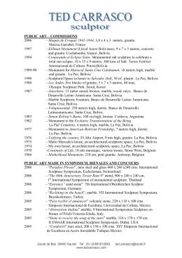 PUBLIC ART – COMMISSIONS 2006 - Maquis de