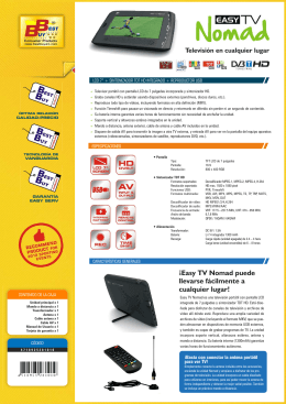 Ficha Easy TV Nomad