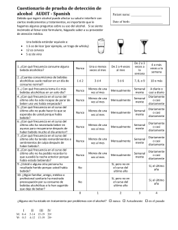 AUDIT alcohol screening questionnaire