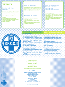 SKOOP POSTER - Harm Reduction Coalition