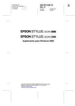 Suplemento para Windows 2000 de la EPSON STYLUS SCAN 2000