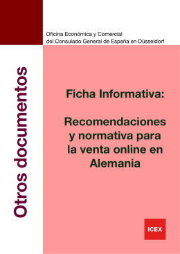 Ficha Informativa - Friends of Spain in Germany