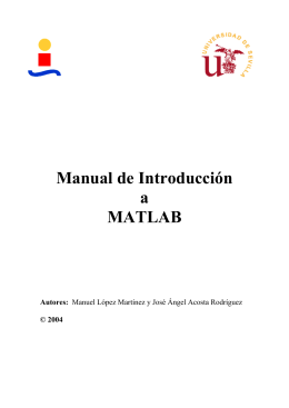 Manual de Introducción a MatLab (26 pags)