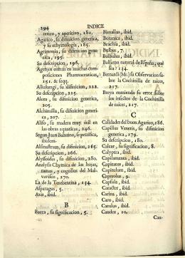 tó4 INDICE retico, y aperitivo, 181. Bimallus, ibid. Agarico, fu