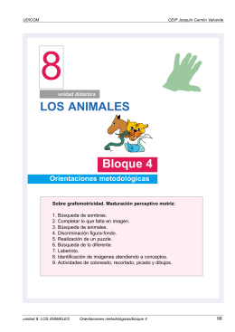 LOS ANIMALES Bloque 4