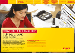 Descargar Guía del usuario de DHL eMailShip