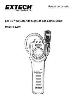 Manual del usuario EzFlex™ Detector de fugas de gas combustible