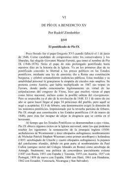 VI DE PÍO IX A BENEDICTO XV Por Rudolf Zinnhobler
