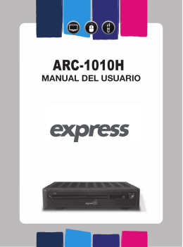 Manual de Usuario ARC-1010H