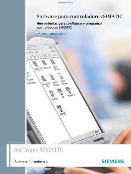 Software para controladores SIMATIC Herramientas para