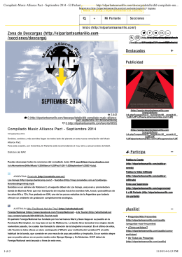 Compilado Music Alliance Pact - Septiembre 2014