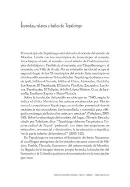 leyendas, relatos y bailes de Tepalcingo