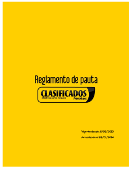 Reglamento de Pauta - Clasificados