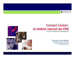 Contact Center: el ámbito natural de CRM